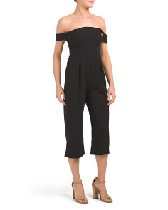 Petite Made In Usa Off The Shoulder Jumpsuit