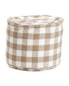20x15 Indoor Outdoor Gingham Pouf