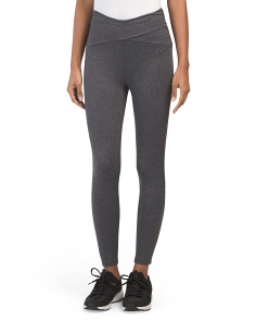 Ruched Crossover Ankle Leggings