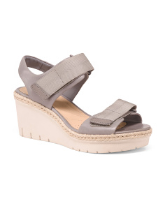 Comfort Premium Leather Wedge Sandals