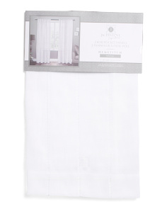 38x84 Set Of 2 Sheer Hemstitch Curtains