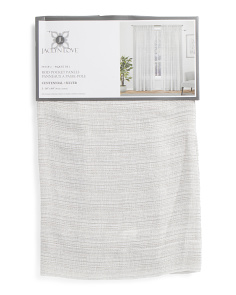 Set Of 2 Textured Sheer Curtains