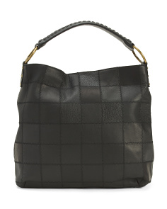 Leather Patch Hobo