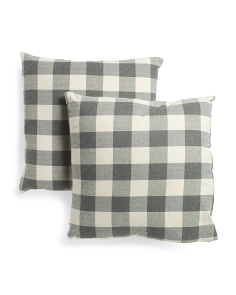 2pk 22x22 Buffalo Plaid Pillow