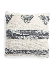 Made In India 26x26 Oversized Shag Pillow