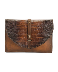 Made In Italy Envelope Leather Pouch