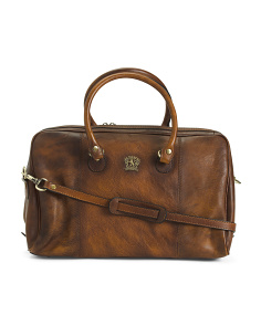 Made In Italy Leather Travel Bag