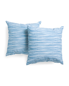 20x20 2pk Indoor Outdoor Petra Stripe Pillows