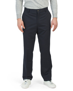Easy Care Classic Fit Flat Front Pants