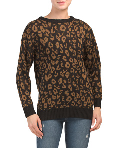 Cheetah Jacquard Sweater