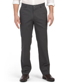 Signature Stretch Flat Front Pants