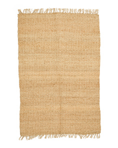 3x5 Jute Braided Scatter Rug With Fringe