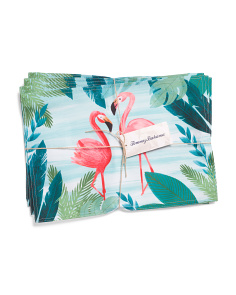 4pk Indoor Outdoor Flamingos In Paradise Placemats