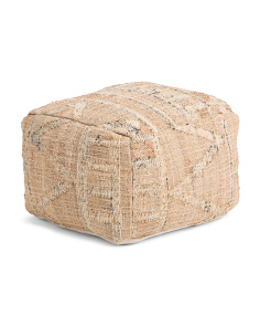 Made In India 20x14 Kilim Textured Pouf
