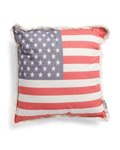 18x18 Indoor Outdoor Us Flag Pillow