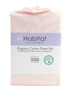 500tc Organic Cotton Sheet Set