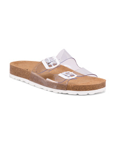 Made In Spain 2 Band Cork Flat Sandals