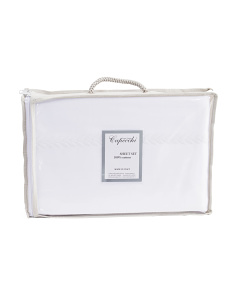 Made In Italy Leaves Embroidered Sheet Set