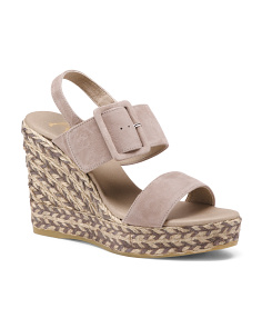 Made In Spain Platform Suede Wedges
