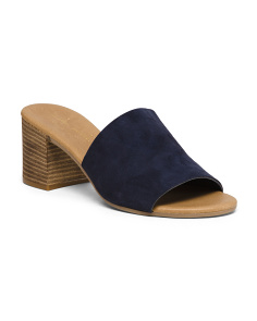 Made In Italy Suede Heel Sandals