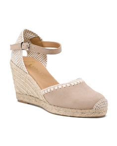 Made In Spain Closed Toe Suede Espadrilles