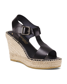 Made In Spain Leather H Band Espadrilles