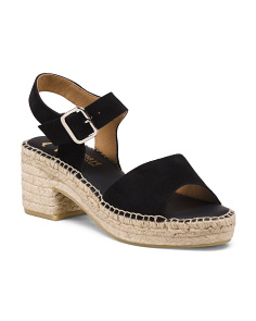 Made In Spain Heeled Suede Espadrilles