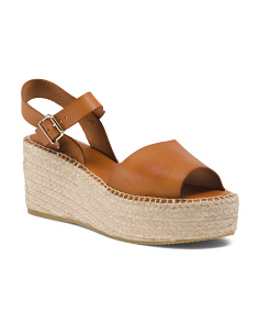 Made In Spain Leather Platform Espadrilles