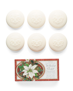 6pk White Star Pomegranate Soap Set