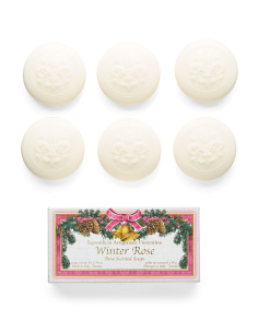 6pk Winter Rose Soap Set