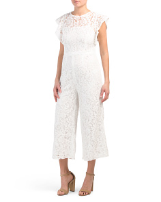 Cropped Illusion Lace Jumpsuit