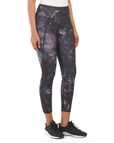 Ankle Length Galactic Floral Leggings