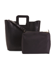 Antonio Leather Python Embossed Tote
