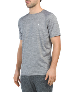 Uv Protection Stretch Heathered Top