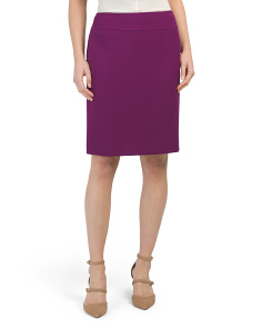Petite Wide Waistband Pencil Skirt