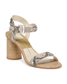 Studded Ankle Strap Leather Sandals