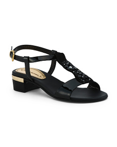 Made In Italy Patent Leather Sandals