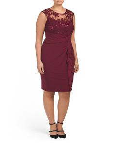 Plus Sleeveless Lace Dress