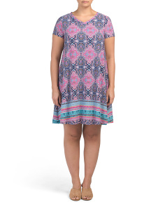 Plus Magi Medallion Swing Dress