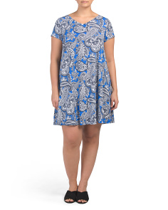 Plus Woodland Paisley Swing Dress