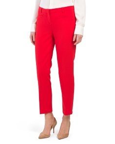 Modern Fit Pants With Cigarette Legs