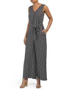 Wide Striped Jumpsuit