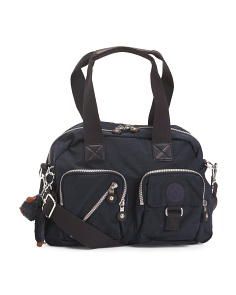 Defea Large Multi Pocket Nylon Satchel