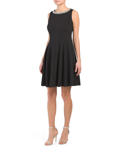 Embellished Trim Cocktail Dress