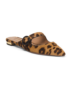 Made In Italy Haircalf Animal Print Flats