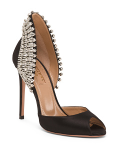 Made In Italy Crystal Embellished Pumps