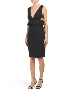 Scuba Crepe Peplum Dress