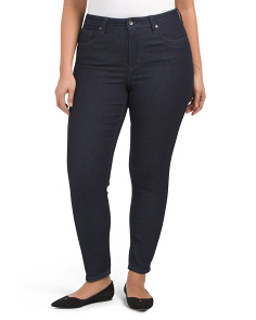 Plus High Rise Skinny Denim Jeans
