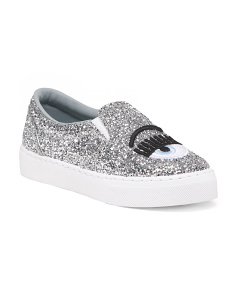 Made In Italy Glitter Sneakers