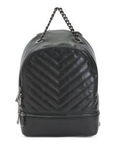 Made In Italy Nappa Leather  Backpack